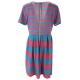 LuLaRoe Amelia (2XL) blue, pink stripes