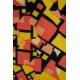 LuLaRoe Amelia (2XL) yellow pink patterns