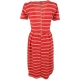 LuLaRoe Amelia (Medium) Red White Stripes