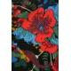 LuLaRoe Amelia (XL) Blue Red Flowers