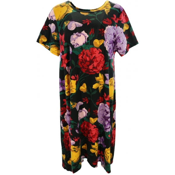 LuLaRoe Carly (2XL) Multicolored Flowers