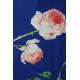 LuLaRoe Carly (2XL) Flowers on Blue