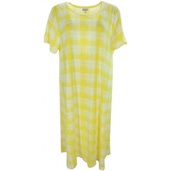 LuLaRoe Carly (3XL) Yellow Plaid