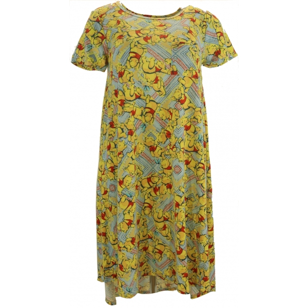 LuLaRoe Disney Carly (XS) Pooh on  Yellow