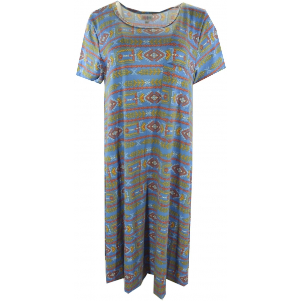 LuLaRoe Carly (Large) Patterns on Blue