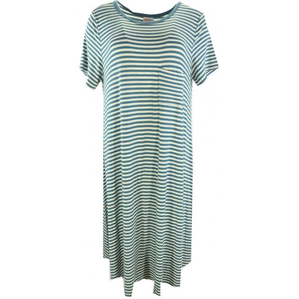LuLaRoe Carly (Large) Blue and white stripes