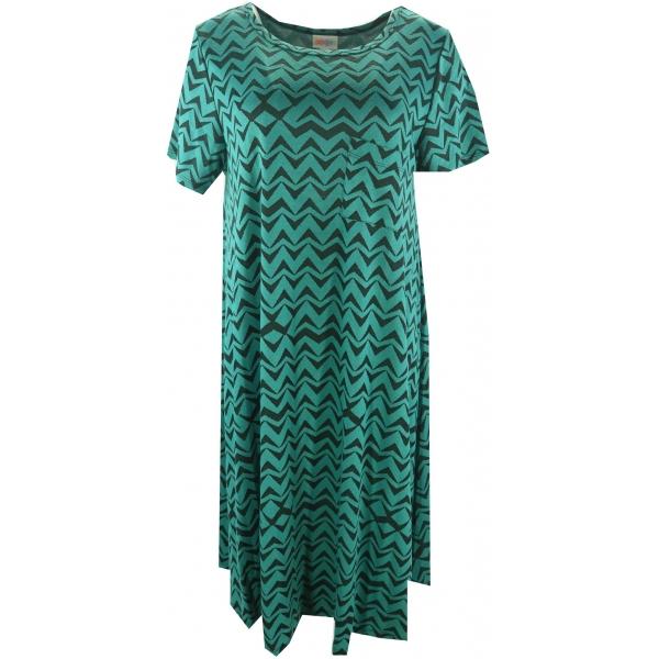 LuLaRoe Carly (Large) Green and gray patterns