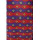 LuLaRoe Carly (Medium) patterns, blue, red