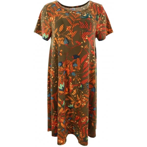 LuLaRoe Carly (Medium) Patterns on brown