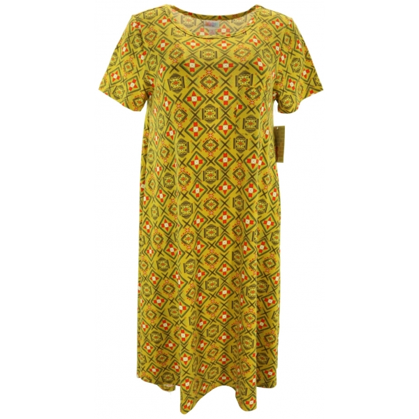 LuLaRoe Carly (Small) Patterns on yellow