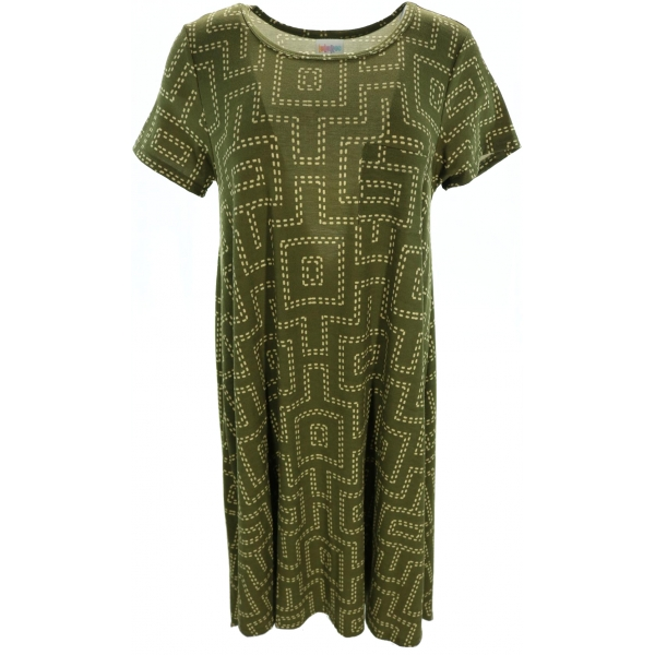 LuLaRoe Carly (Small) Patterns on Brown