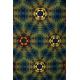 LuLaRoe Carly (XS) Patterns of blue and yello
