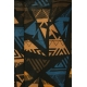LuLaRoe Carly (XS) Brown and blue patterns on brown