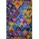 LuLaRoe Carly (XS) purple, yellow, red patterns