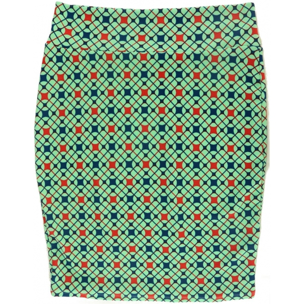 LuLaRoe Cassie (2XL) Red and blue on green