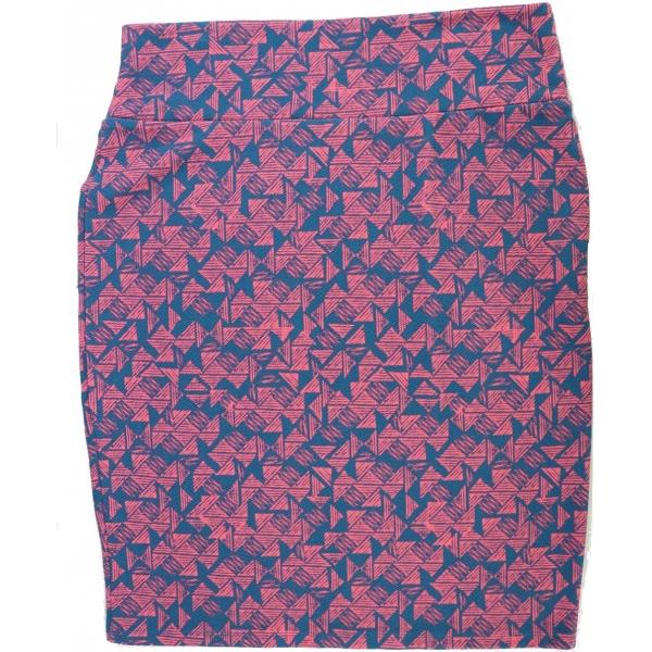 LuLaRoe Cassie (2XL) Red blue patterns