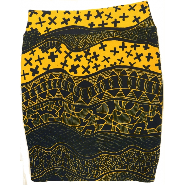 LuLaRoe Cassie (3XL) blue and yellow patterns