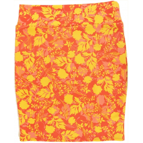 LuLaRoe Cassie (3XL) Yellow flowers on red