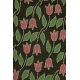 LuLaRoe Cassie (3XL) Pink flowers on brown
