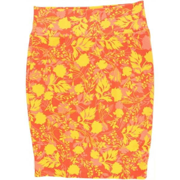LuLaRoe Cassie (Large) Yellow flowers on Red