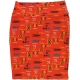 LuLaRoe Cassie (Large) Red Azetch Patterns