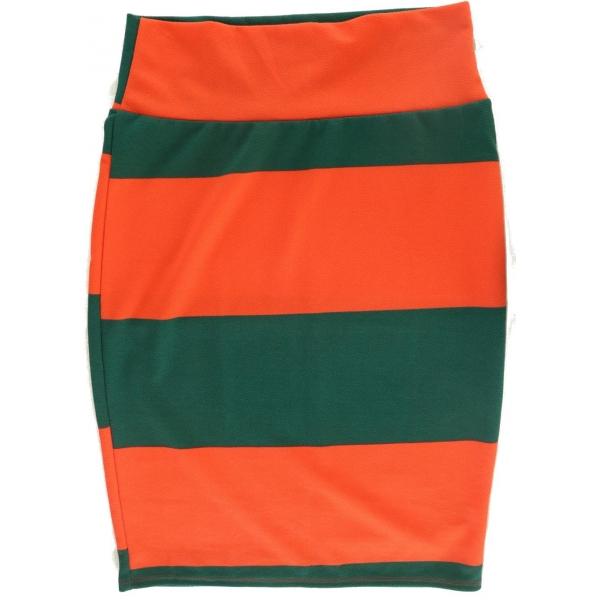LuLaRoe Cassie (Medium) Orange and Green Stripes