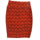 LuLaRoe Cassie (Medium) Orange Brown Patterns