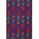 LuLaRoe Cassie (Medium) Multicolored Triangles on purple
