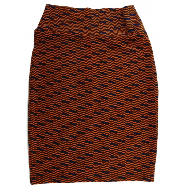 LuLaRoe Cassie (Small) orange and blue patterns