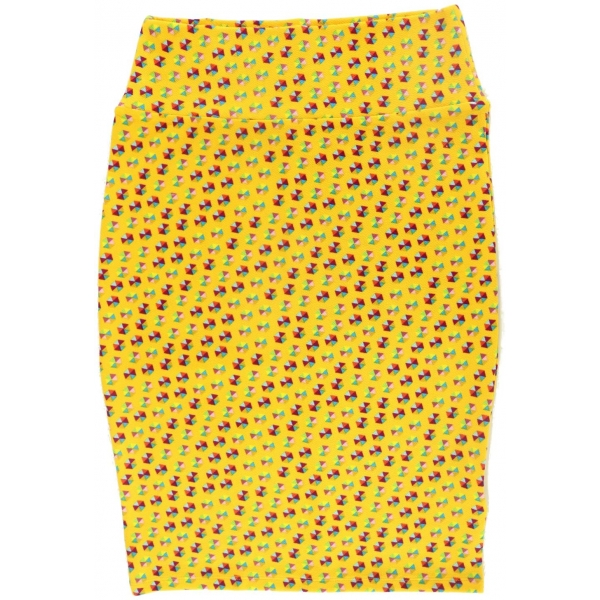 LuLaRoe Cassie (Small) Patterns on Yellow