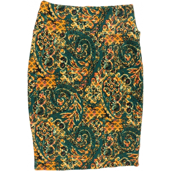 LuLaRoe Cassie (Small) Green and orange patterns