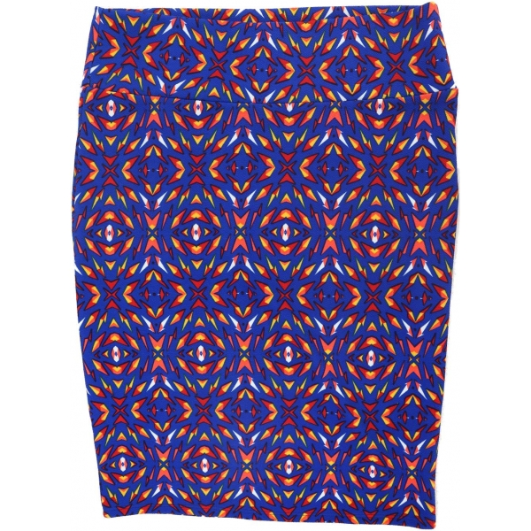 LuLaRoe Cassie (XL) Patterns on dark Blue