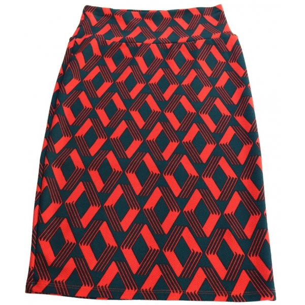 LuLaRoe Cassie (XS) navy blue and red patterns
