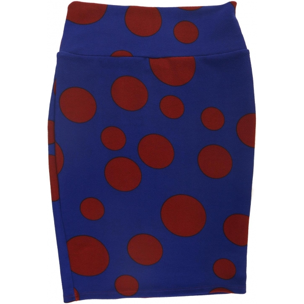 LuLaRoe Cassie (XS) Red Dots on Blue