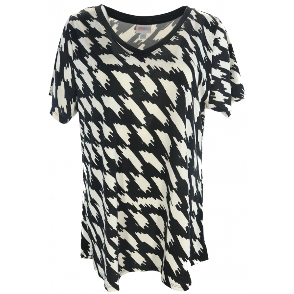 LuLaRoe ChristyT (XL) Black and White Patterns