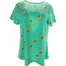 LuLaRoe Disney  ClassicT (Large) Miss Piggy on Green