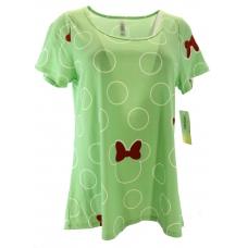 LuLaRoe Disney  ClassicT (Medium) White Minnie on green