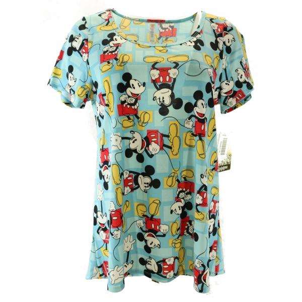 LuLaRoe Disney  ClassicT (Medium) Mickey on blue