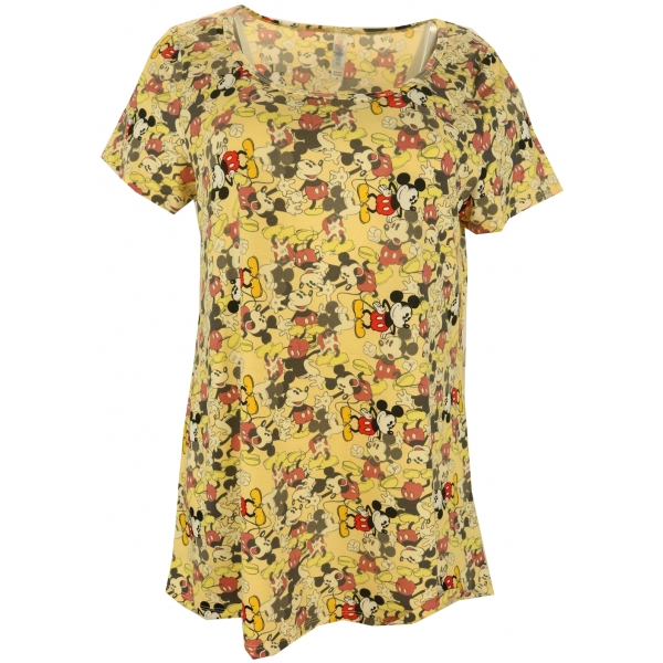 LuLaRoe Disney  ClassicT (Medium) Mickey on Yellow