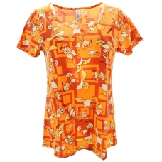 LuLaRoe Disney  ClassicT (Small) Donald duck on Orange