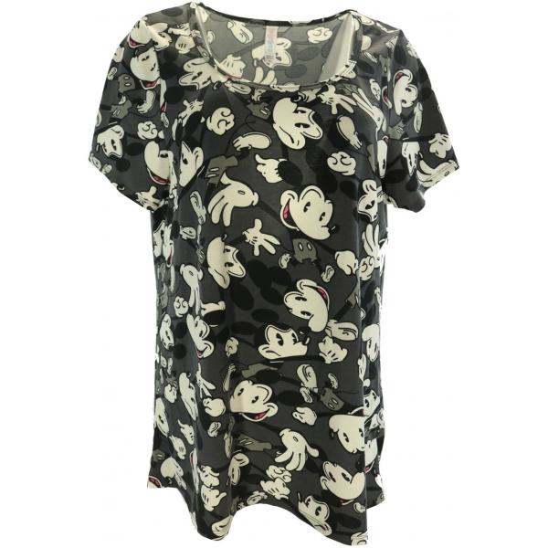 LuLaRoe Disney  ClassicT (XL) Black White Mickey