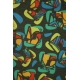 LuLaRoe ClassicT (Large) multicolor patterns on black