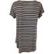 LuLaRoe ClassicT (Large) Yellow White Stripes on Blue