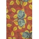 LuLaRoe ClassicT (Large) Blue Flowers on Red