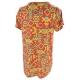 LuLaRoe ClassicT (Large) multi-colored patterns on orange