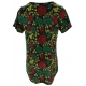 LuLaRoe ClassicT (Large) red, yellow flowers on black