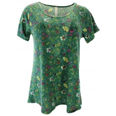 LuLaRoe ClassicT (Small) flowers on green