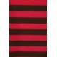 LuLaRoe ClassicT (Small) Red and Brown Stripes