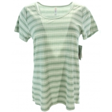 LuLaRoe ClassicT (Small) green and white stripes