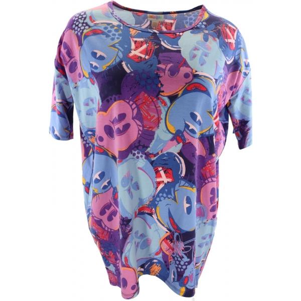 LuLaRoe Disney Irma (2xs) Blue Purple Mickey
